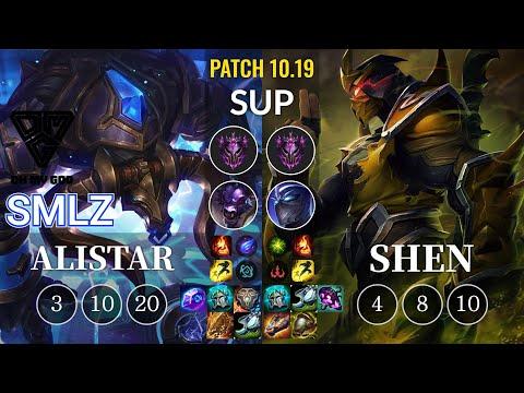 OMG Smlz Alistar vs Shen Sup - KR Patch 10.19