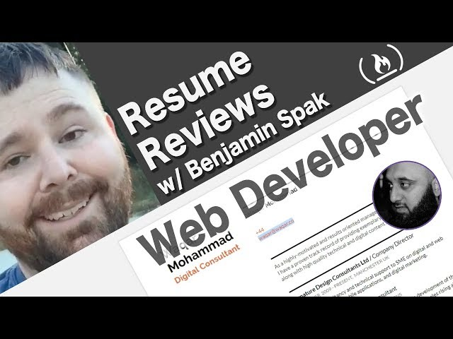 Resume Review: Front-end Web Developer (Waqar)