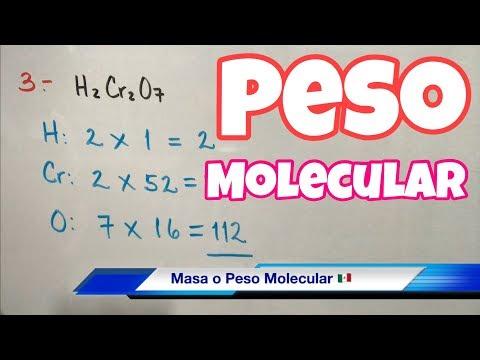 MASA Y PESO Molecular (muchos Ejemplos)