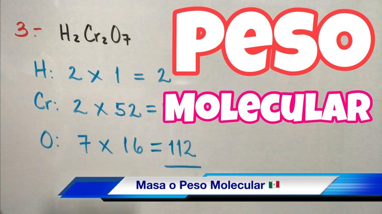 MASA y PESO Molecular (muchos ejemplos) - YouTube