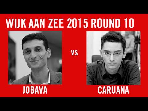 Wijk aan Zee 2015 Round 10 Baadur Jobava vs Fabiano Caruana