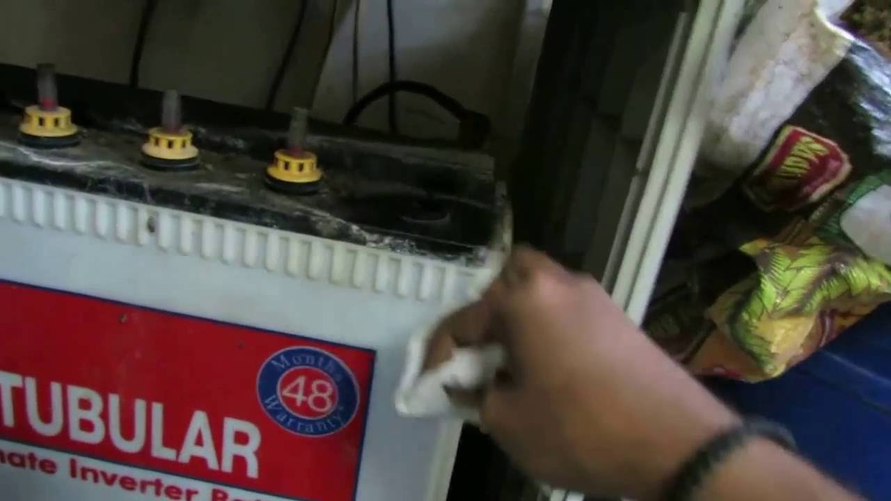 Steps to fill battery water in home inverter | Battery maintenance of  inverter