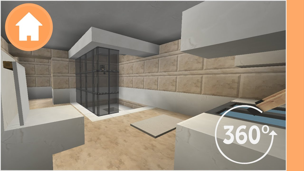 Minecraft Bathroom Designs 360 176 Degree Minecraft Youtube