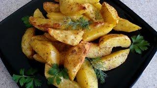 """Вкусный картофель """"Айдахо"""". Остренькая картошка в духовке, простой рецепт!"""