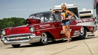 """SHAKE RATTLE & RUN"" '57 CHEVY BEL AIR AT RT66 Test N Tune"