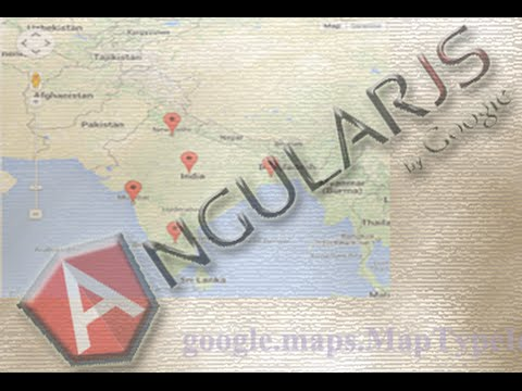 How to use Google Maps with AngularJS