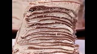 Легкий рецепт блинного торта с творожным кремом | Как приготовить торт из блинов