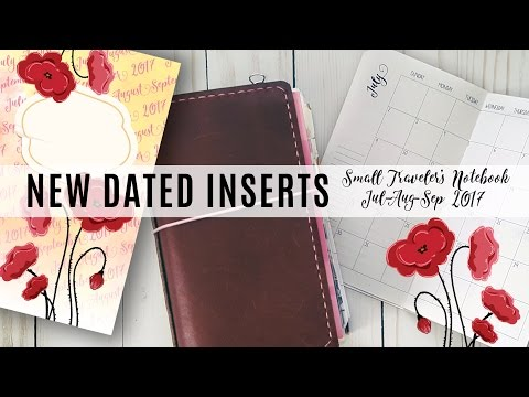 How to put together Dated Traveler's Notebook DIY Printable Planner Inserts