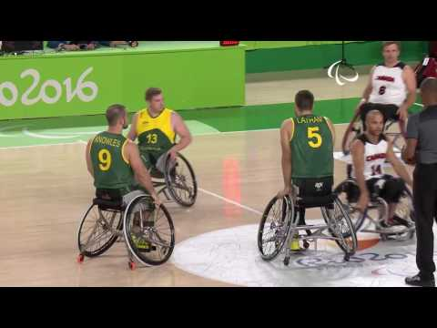 Wheelchair Basketball | Canada vs Australia | Men's preliminaries | Rio 2016 Paralympic Games