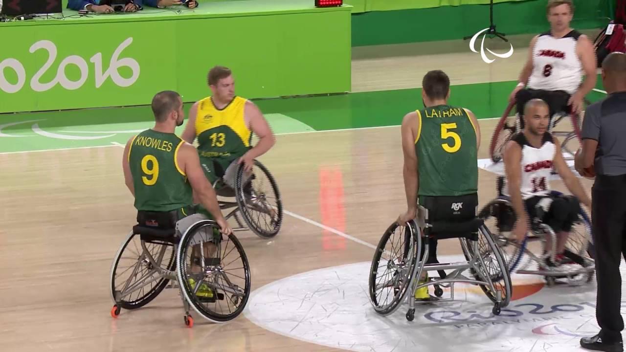 Wheelchair Basketball | Canada vs Australia | Men's preliminaries | Rio 2016 Paralympic Games
