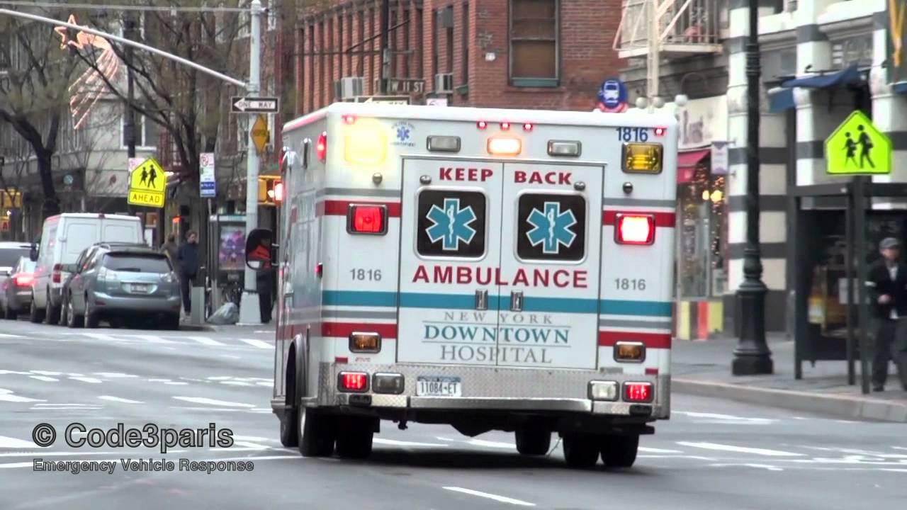 New York Emergency Ambulance Downtown Hospital 1816 Youtube