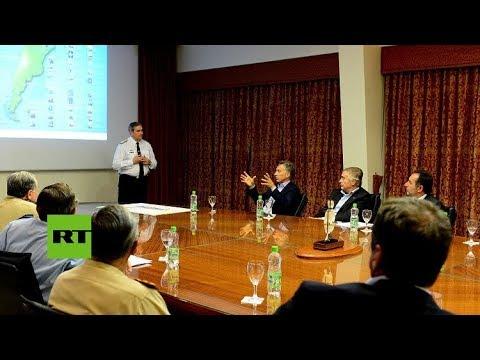 Macri se reúne con cúpula de la Armada argentina para tratar el tema del submarino desaparecido