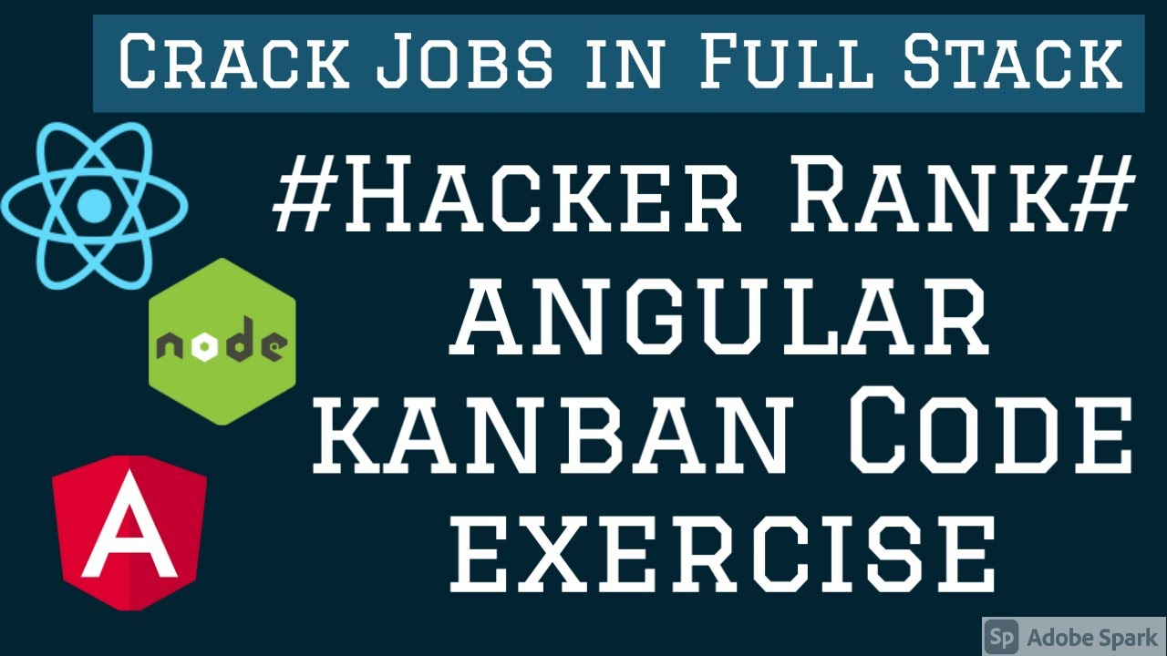 Angular Kanban Board HackerRank Test #06