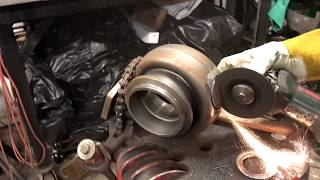 this guy cuts open a brand new turbo what happens next is shocking