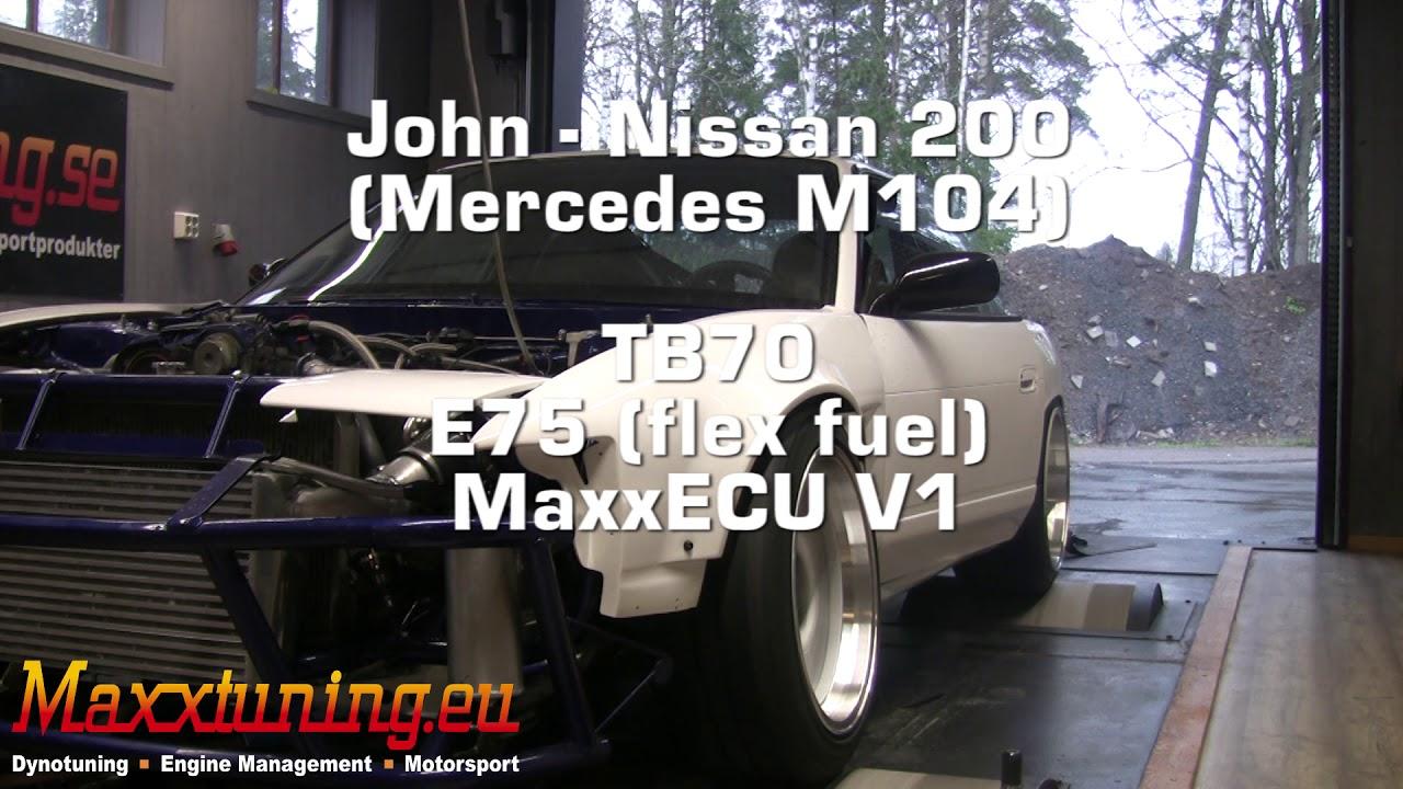 Tuning 619WHP Nissan 200sx MaxxECU V1 - Maxxtuning AB