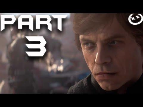 STAR WARS BATTLEFRONT 2 Walkthrough Gameplay Part 3 - Luke - Campaign Mission 3 (BF2 Battlefront II)