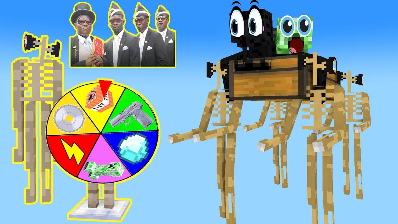 Siren head coffin dance meme in monster school - minecraft animation
