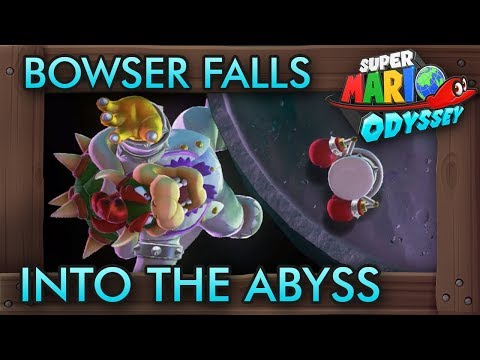 Mario PUNCHES Bowser Into the Abyss - Super Mario Odyssey