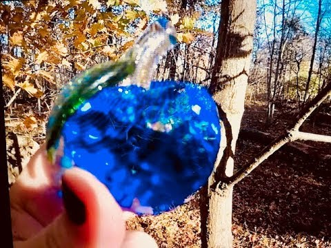 REAL BLUE APPLE GEM FOUND FALLEN FOREST...NOTES?