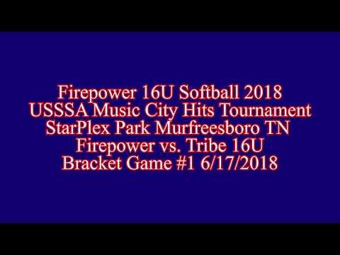 USSSA Music City Hits Firepower vs.  Tribe 16U Bracket Game #1