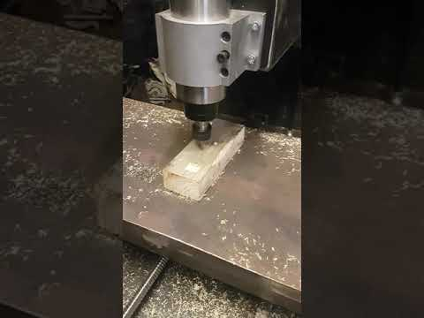 First cuts on wood with DIY CNC milling machine