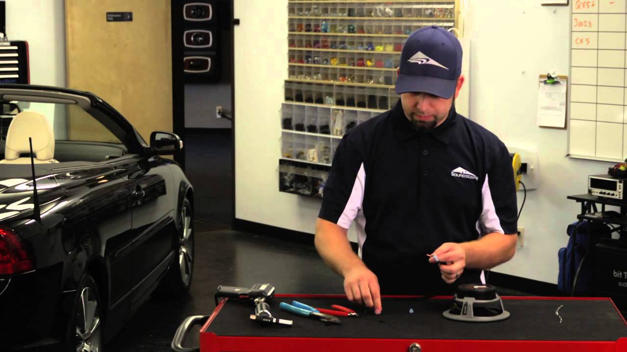 maxresdefault how to replace speaker wire connectors car audio youtube how to remove car stereo wiring harness at couponss.co