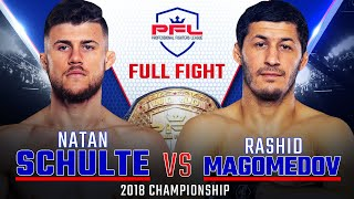 2018 PFL Lightweight Championship: Natan Schulte vs. Rashid Magomedov