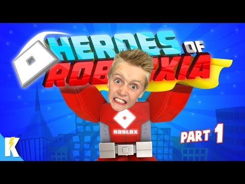 We Have ROBLOX POWERS!!! Heroes Of Robloxia Part 1!  | KIDCITY GAMING