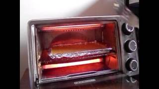 Cooking eggs in a toaster oven
