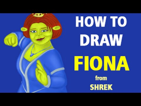 How To Draw Princess Fiona From Shrek Speed Painting Youtube