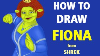 How to Draw Princess Fiona from Shrek [Speed Painting]