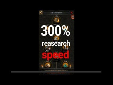 300% RESEARCH SPEED Guied (CLASH OF KINGS TIPS AND TRICK   )