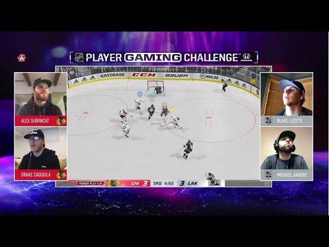 Chicago Blackhawks (DeBrincat, Caggiula) Vs. L.A. Kings (Lizotte, Amadio) | NHL Gaming Challenge