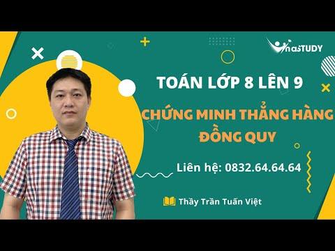 Toán lớp 8 lên 9 - Chứng minh thẳng hàng, đồng quy - Thầy Trần Tuấn Việt Vinastudy