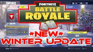 FORTNITE BATTLE ROYALE SAISON 2 WINTER UPDATE HYPE!! NOUVEAU BATTLE PASS GAMEPLAY