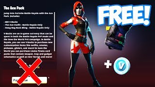 "HOW TO GET ""THE ACE "" STARTER PACK FOR FREE in FORTNITE! (THE ACE STARTER PACK 3 FREE)"
