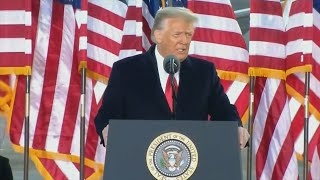 video: Donald Trump says he will be back 'in some form' in farewell address