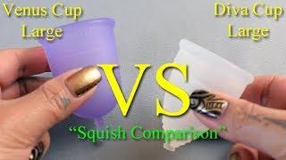 Venus Cup vs Diva Cup LG 'Squish' - Menstrual Cups