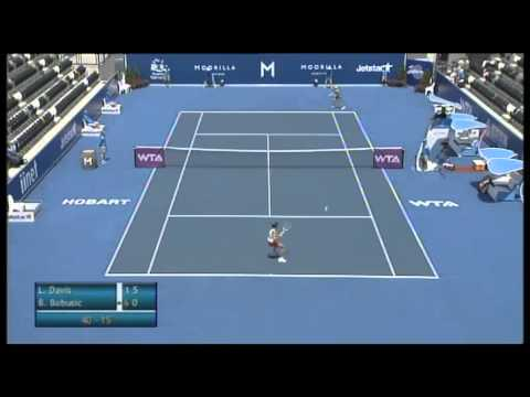 Lauren Davis vs Bojana Bobusic, Moorilla Hobart International 2013