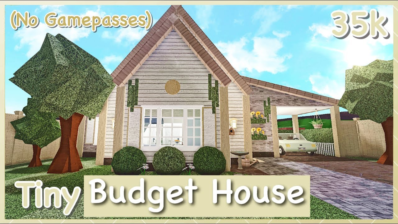 Bloxburg Tiny Budget House Speed Build No Gamepasses