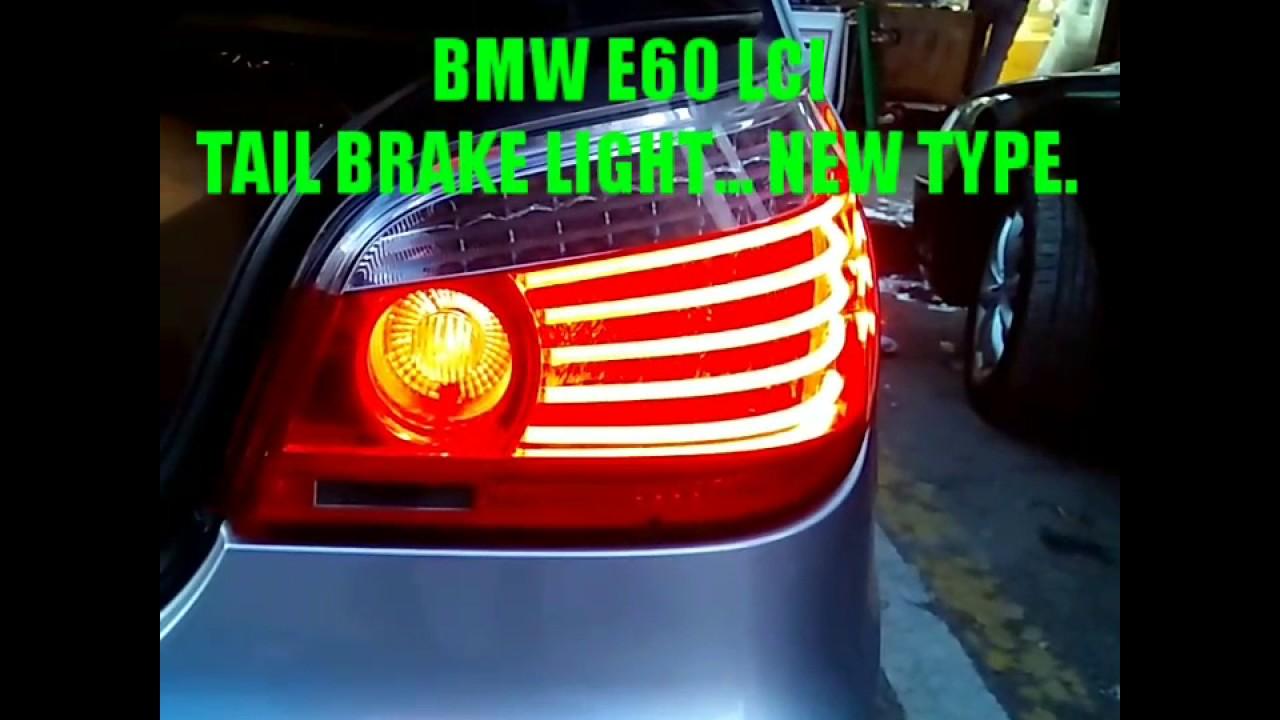 BMW 5er E60 03-07 FACELIFT LOOK SCHWARZ BLACK SMOKE NEU LED BAR RÜCKLEUCHTEN f