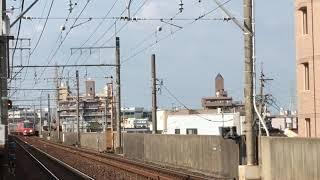 名鉄3100系 3112f+名鉄3150系 3161f(普通東岡崎行き)中小田井駅 到着‼️