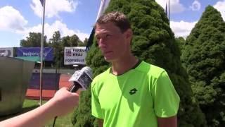 Petr Hájek po výhře ve finále kvalifikace na turnaji Futures v Ústí n. O.