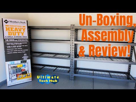 How To Assemble A 4 Shelf Storage Rack-Members Mark Storage Rack