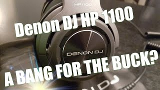 Reviewing the Denon DJ HP 1100. Amazing sound quality!