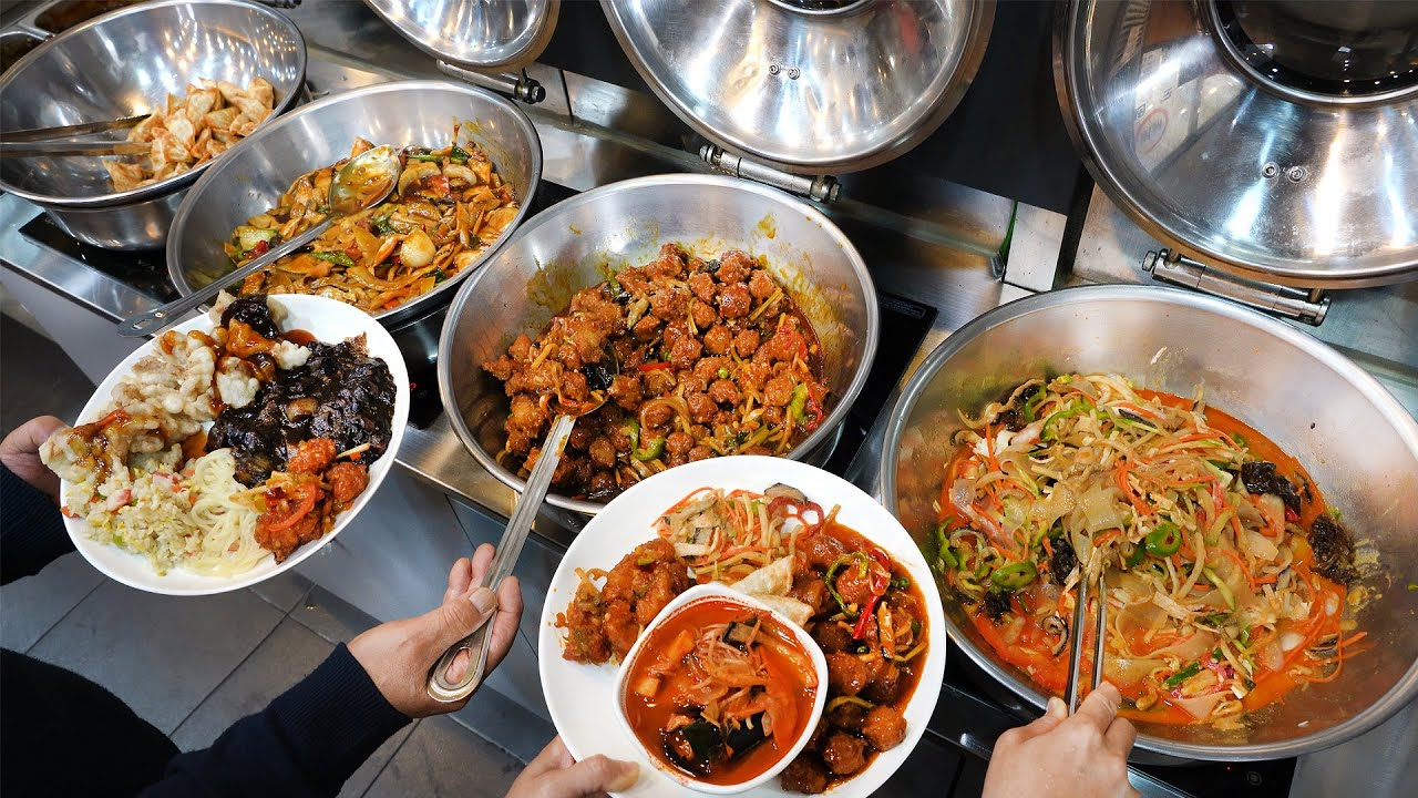 9900원 중화요리 뷔페 끝판왕? 특급호텔 출신 주방장 요리를 먹을수 있는! 중식 무한리필┃Unlimited Chinese food refill -Korean street food