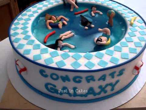 Swimming Pool Birthday Cake Photos