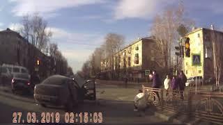 МОМЕНТ ДТП С ТРЁХ КАМЕР, минуты после ДТП Ворошилова х 40 лет Октября в Ангарске