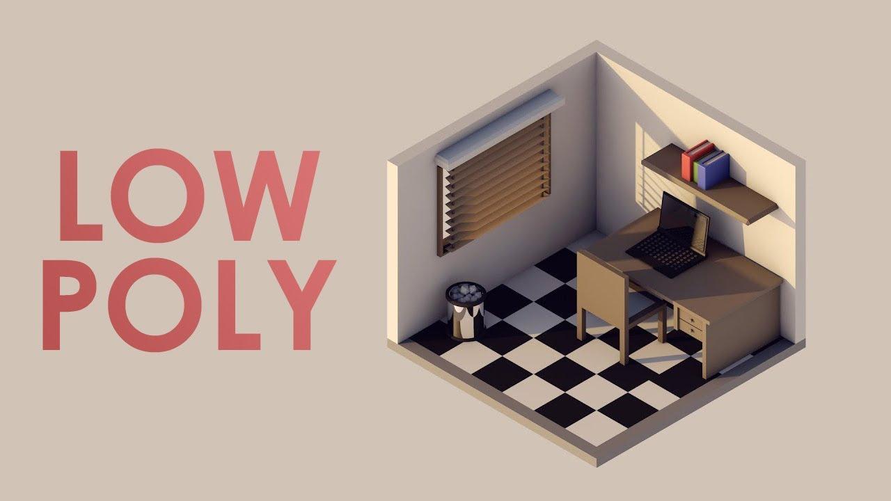 Speed Art Isometric World Lowpoly Youtube