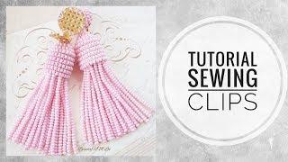#МК - Серьги Оскар с пришивными клипсами | #Tutorial - Oscar earrings with sewn clips